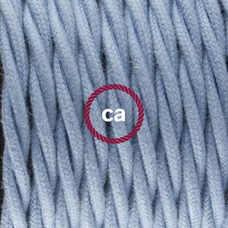 Pendel único, lámpara colgante cable textil Oceano en Algodón TC53
