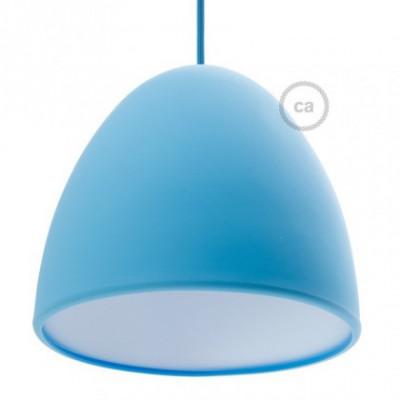 Pantalla en silicona azul completo de difusor y prensaestopa. Diámetro 25 cm.