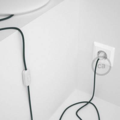 Cableado para lámpara, cable RC30 Algodón Gris Piedra 1,8m. Elige tu el color de la clavija y del interruptor!