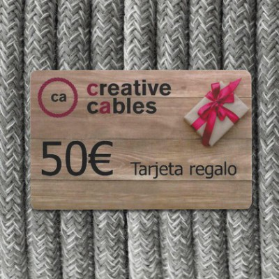 Gift card, tarjeta regalo Creative-Cables 50 Euro