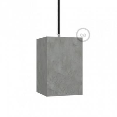Pantalla de cemento Cubo completo de prensaestopa y portalámpara E27
