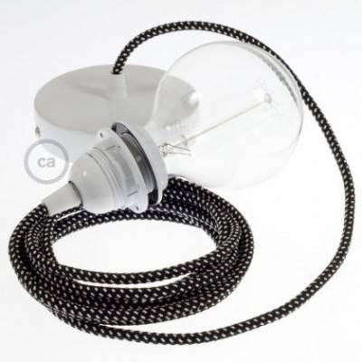 Pendel para pantalla, lámpara colgante cable textil Estrellas 3D RT41