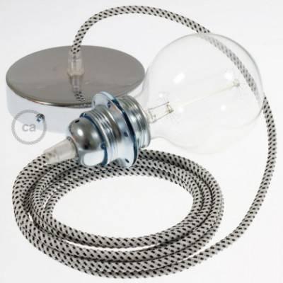 Pendel para pantalla, lámpara colgante cable textil Stracciatella 3D RT14