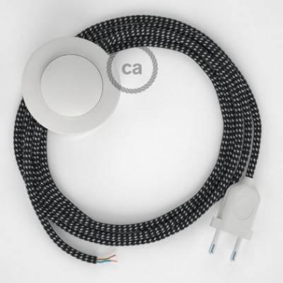 Cableado para lámpara de pie, cable RT41 Efecto Seda Estrellas 3 m. Elige tu el color de la clavija y del interruptor!