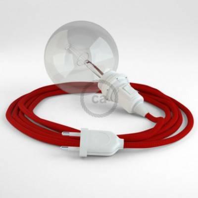 Crea tu Snake para pantalla Efecto Seda Rojo RM09 y trae la luz donde tu quieras.