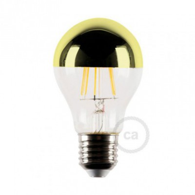 Bombilla LED media esfera dorado 4W E27 2700K