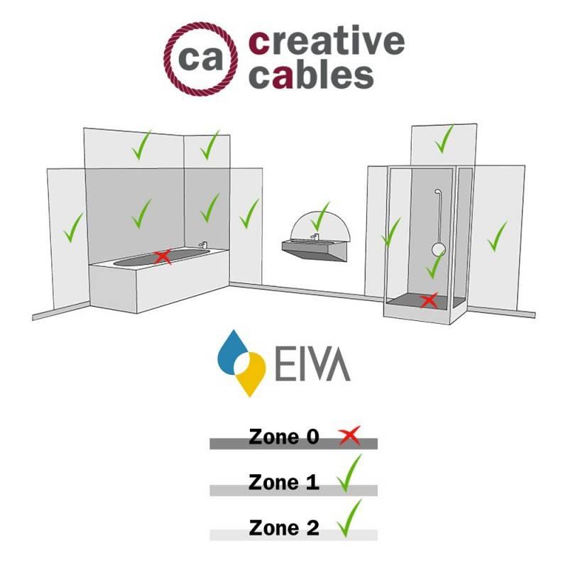 Fermaluce EIVA con extensión en L, pantalla Swing y portalámparas estanco IP65