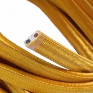Cable eléctrico para Guirnalda recubierto en tejido Efecto Seda Dorado CM05