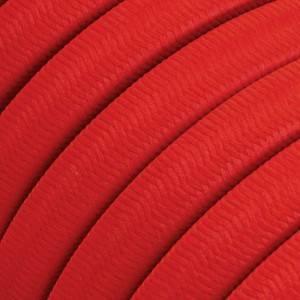 Cable eléctrico para Guirnalda recubierto en tejido Efecto Seda Rojo CM09