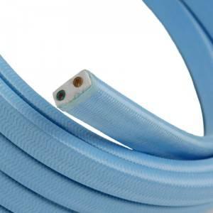 Cable eléctrico para Guirnalda recubierto en tejido Efecto Seda Celeste Bebé CM17