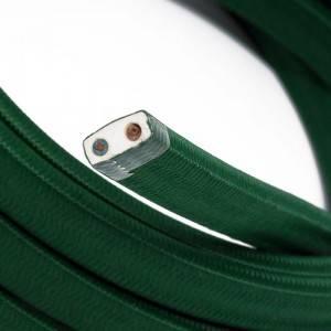 Cable eléctrico para Guirnalda recubierto en tejido Efecto Seda Verde Oscuro CM21