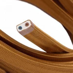 Cable eléctrico para Guirnalda recubierto en tejido Efecto Seda Whiskey CM22