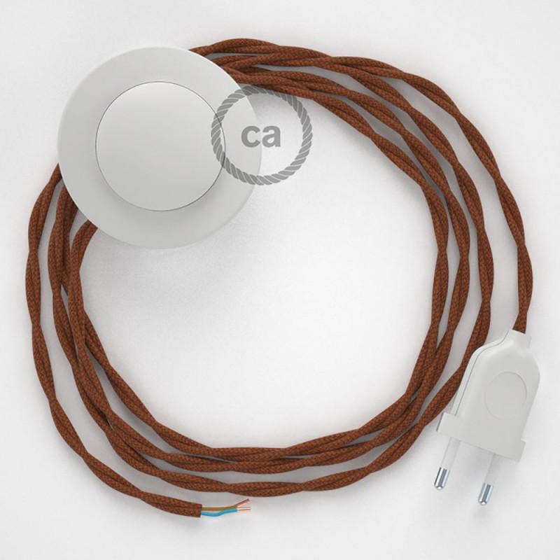 Cableado para lámpara de pie, cable TC23 Algodón Ciervo 3 m. Elige tu el color de la clavija y del interruptor!