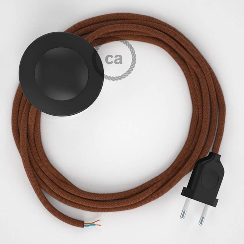 Cableado para lámpara de pie, cable RC23 Algodón Ciervo 3 m. Elige tu el color de la clavija y del interruptor!