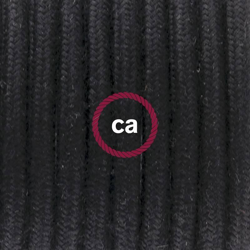Pendel único, lámpara colgante cable textil Negro en Algodón RC04