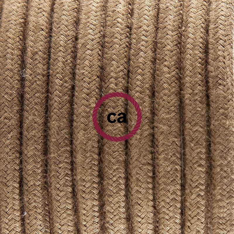 Pendel único, lámpara colgante cable textil Marrón en Algodón RC13