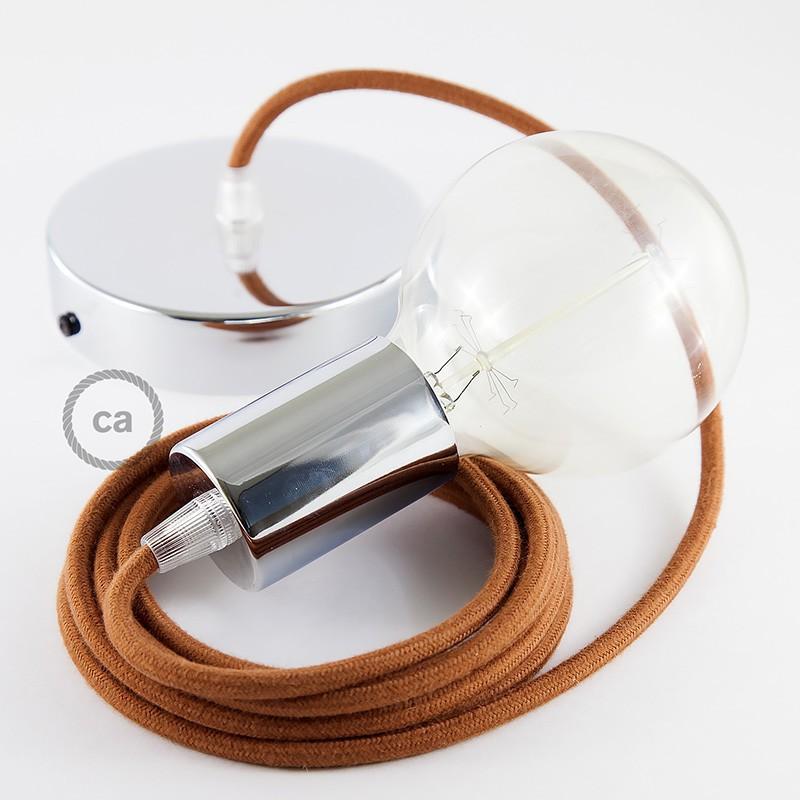 Pendel único, lámpara colgante cable textil Ciervo en Algodón RC23