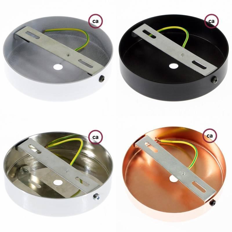 Pendel único, lámpara colgante cable textil Antracita en Lino Natural RN03