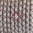 Pendel único, lámpara colgante cable textil Rombo Corteza RD63