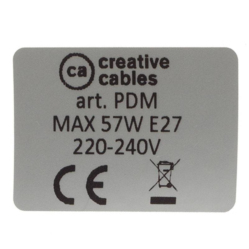 Pendel único, lámpara colgante cable textil Marrón Glitter en Lino Natural RS82