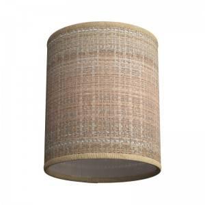 Pantalla Cilindro de tela con casquillo E27 - 100% Made in Italy