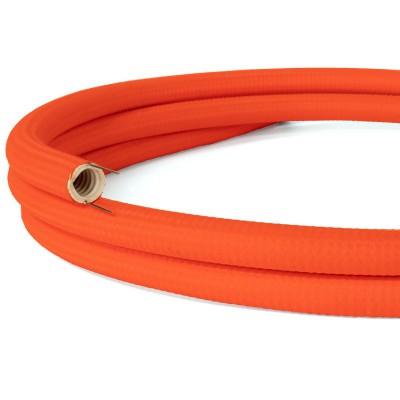 Creative-Tube, Tubo flexible diámetro 20 mm, revestido de tela RF15 Naranja Fluorescente