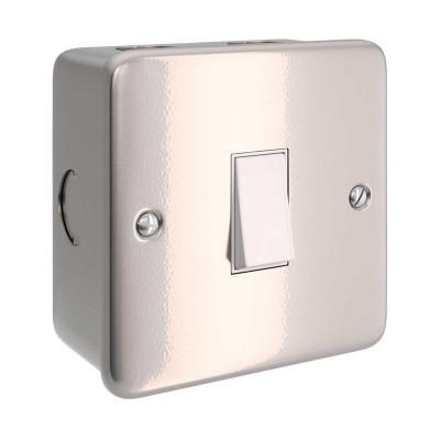 Caja de pared de metal con interruptor simple para Creative-Tube