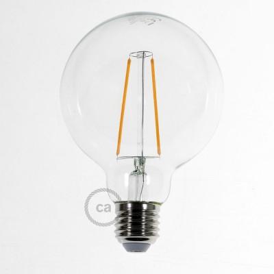 Bombilla Transparente LED Globo G95 Filamento Largo 4W Decorativa Vintage 2200K