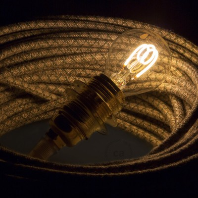 Bombilla Transparente LED Esfera G45 Filamento Curvado con Espiral 3W E14 Dimmable 2200K
