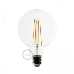 Bombilla Transparente LED Globo G95 Filamento Largo 7,5W E27 Decorativa Vintage Dimmable 2200K