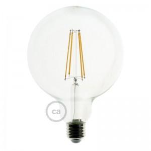 Bombilla Transparente LED Globo G125 Filamento Largo 7,5W E27 Decorativa Vintage Dimmable 2200K
