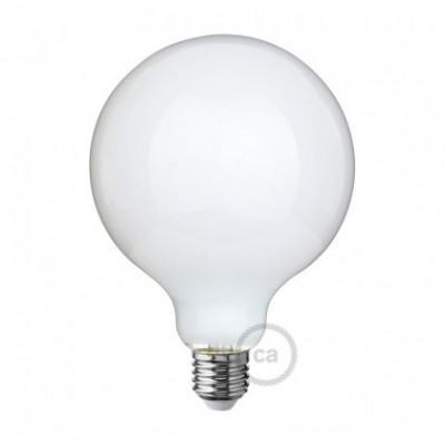 Bombilla LED Blanco Leche Globo G125 7.5W E27 Regulable 2700K