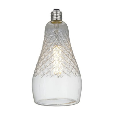 Bombilla LED Iris Transparente Línea Crystal 6W E27 Regulable 2700K