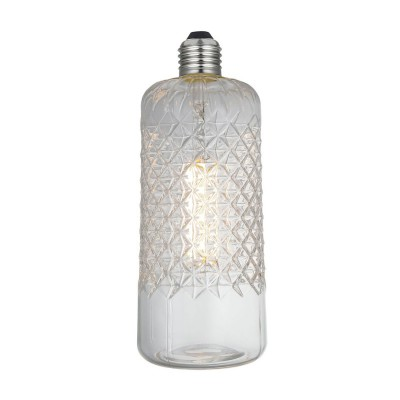 Bombilla LED Demetra Transparente Línea Crystal 6W E27 Regulable 2700K