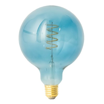Bombilla LED Globo G125 Serie Pastel, Ocean Blue, filamento espiral 5W E27 Regulable 2700K