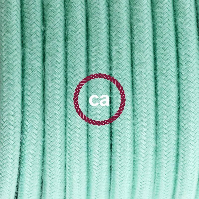 Pendel único, lámpara colgante cable textil Leche y Menta en Algodón RC34