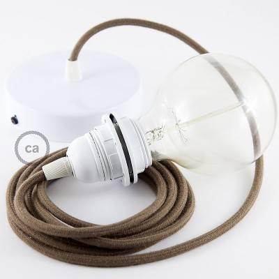 Pendel para pantalla, lámpara colgante cable textil Marrón en Algodón RC13