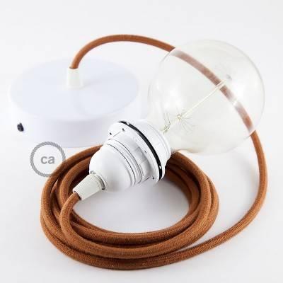 Pendel para pantalla, lámpara colgante cable textil Ciervo en Algodón RC23
