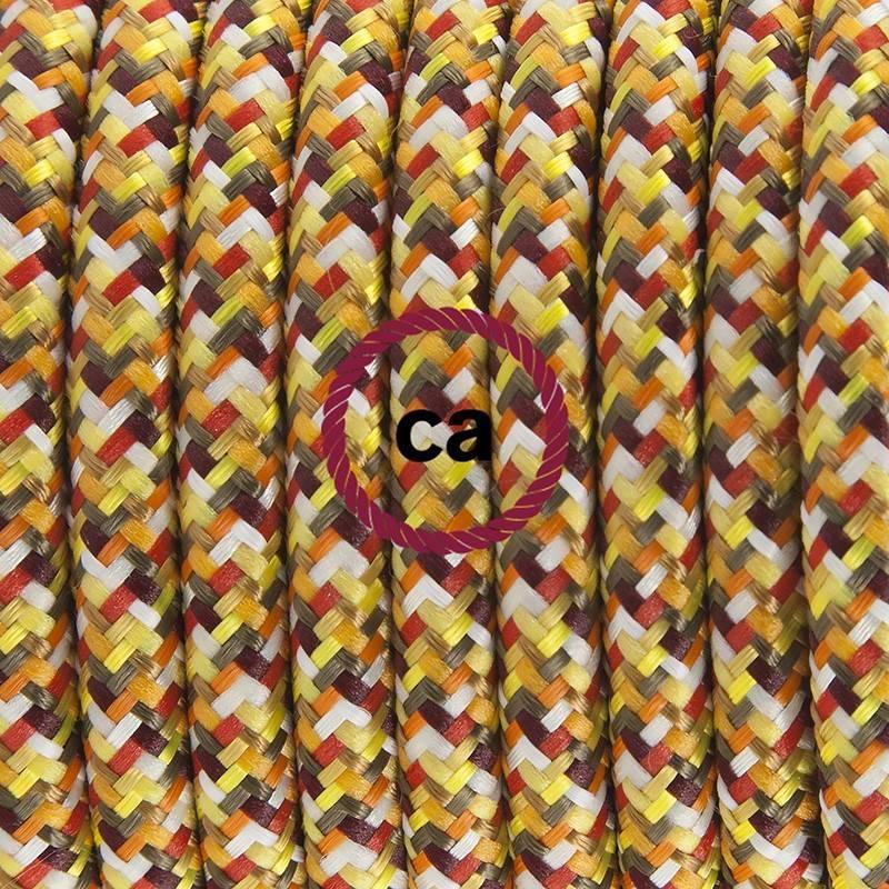 Pendel para pantalla, lámpara colgante cable textil Pixel Naranja RX01