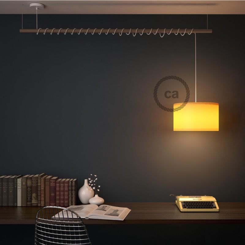 Pendel para pantalla, lámpara colgante cable textil Pixel Verde RX05