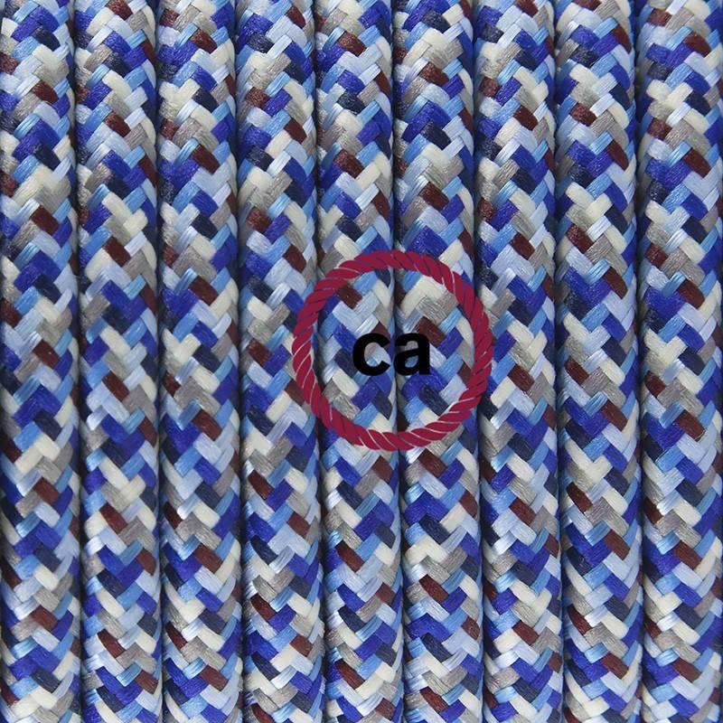 Pendel para pantalla, lámpara colgante cable textil Pixel Turquesa RX03