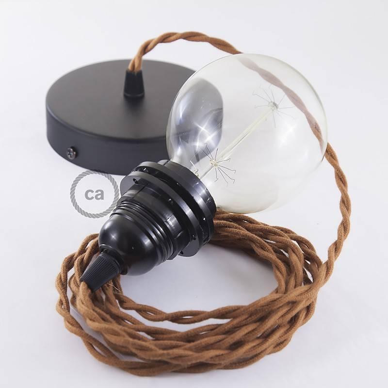 Pendel para pantalla, lámpara colgante cable textil Ciervo en Algodón TC23