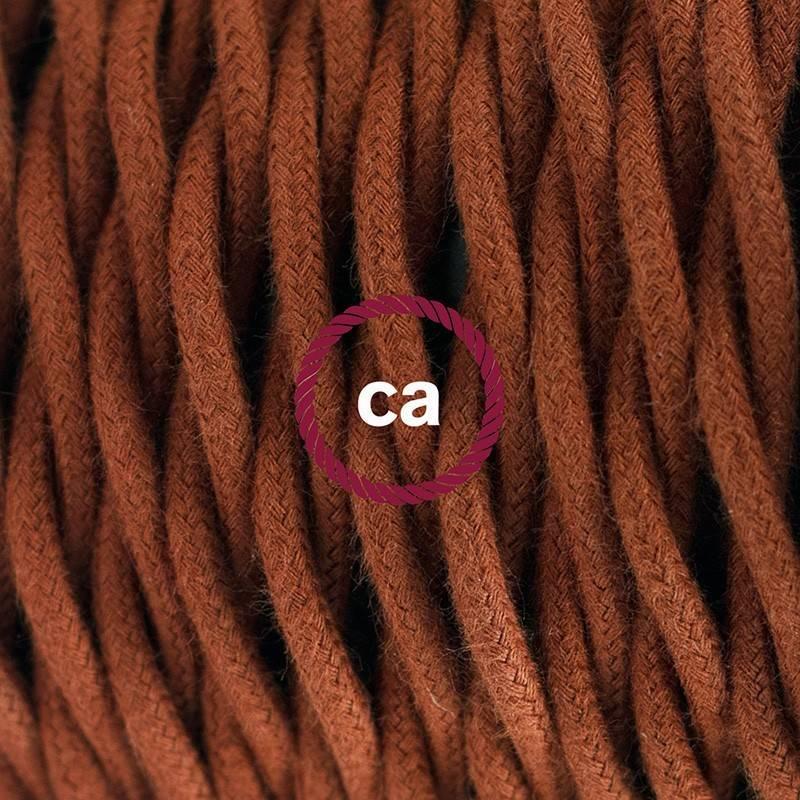 Pendel en porcelana, lámpara colgante cable textil Ciervo en Algodón TC23