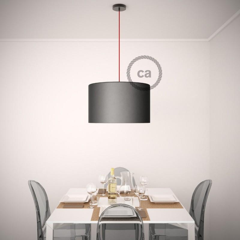 Pendel para pantalla, lámpara colgante cable textil Rojo Fuego Algodón RC35