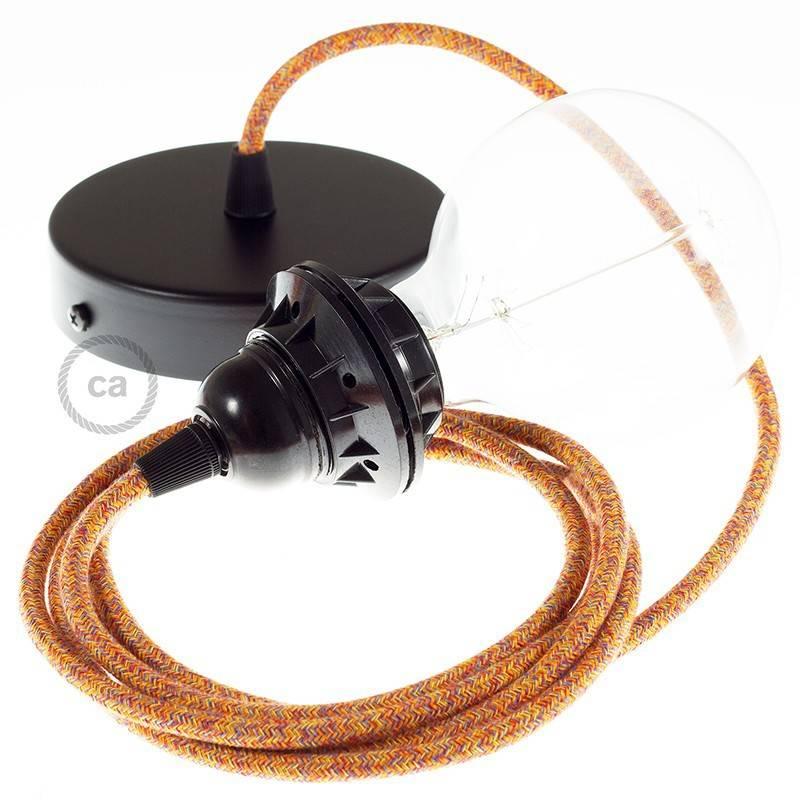 Pendel para pantalla, lámpara colgante cable textil Indian Summer Algodón RX07