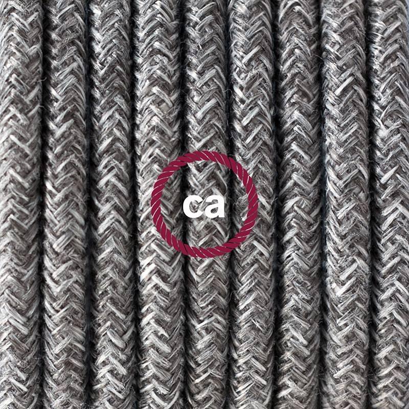 Pendel para pantalla, lámpara colgante cable textil Gris en Lino Natural RN02