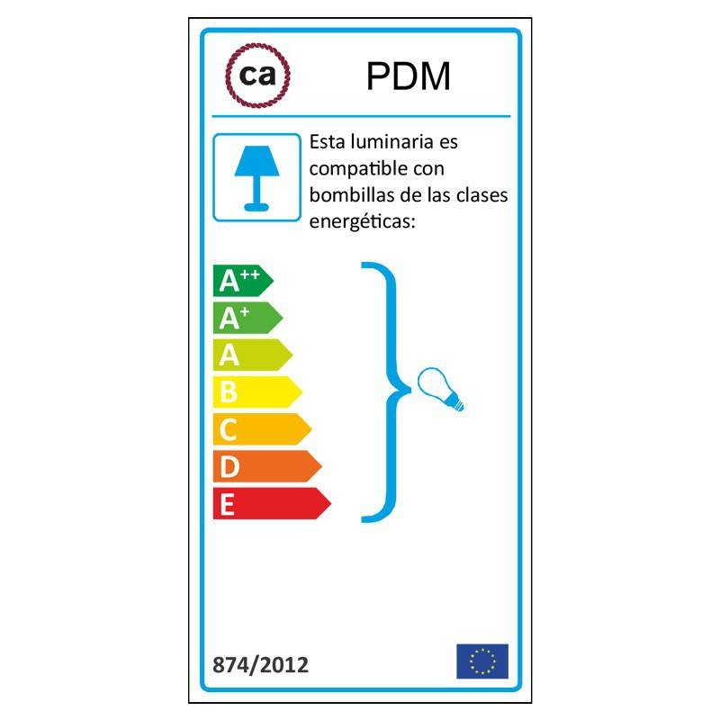 Pendel para pantalla, lámpara colgante cable textil Marrón en Lino Natural TN04