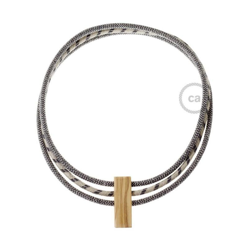Collar Circles colores: Antracite e Lino Naturale RD74, Antracite e Lino Naturale RD54 e Antracite e Lino Naturale RD74.