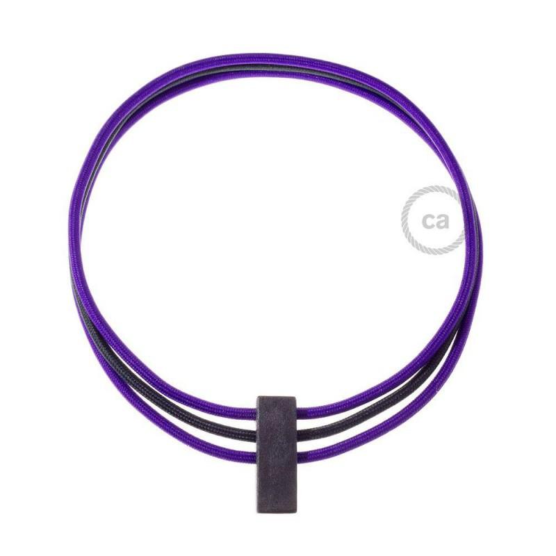 2d4c56acd3cf Collar Circles color Púrpura RM14 y Negro RM04.