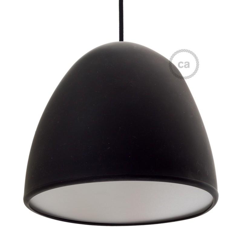 Pantalla en silicona negra completo de difusor y prensaestopa. Diámetro 25 cm.